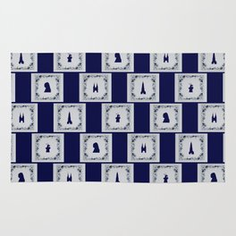 Collage Delft blue tiles Rug