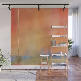 Abstract Landscape With Golden Lines Painting Wall Mural