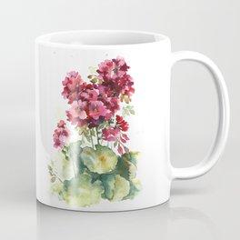 Watercolor geranium flowers Coffee Mug