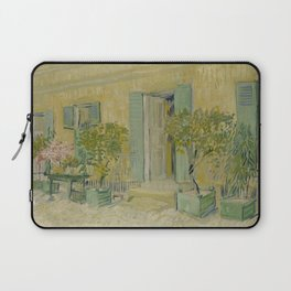 Exterior of a Restaurant in Asnières Laptop Sleeve