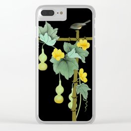 Squash Vine and Bird Clear iPhone Case