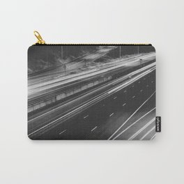 Seattle at Night - Black and White Carry-All Pouch