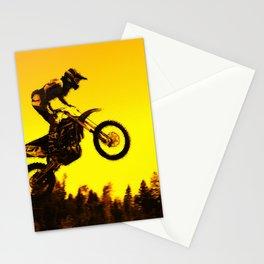 Sunset Run - Motocross Racer Stationery Cards