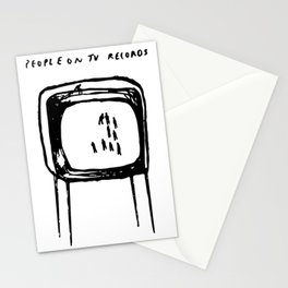 PEOPLE ON TV RECORDS Stationery Cards