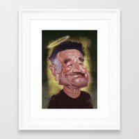 robin williams Framed Art Prints featuring Robin Williams by ideo