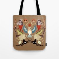 over the garden wall Tote Bags featuring Over The Garden Wall by Berneri