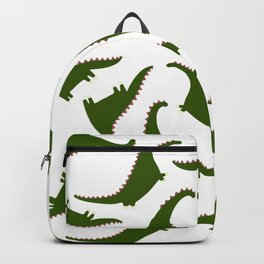 Just A Girl Who Loves Dinosaurs | Cool Green Dinosaur Pattern Backpack