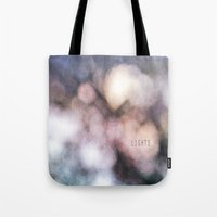the lights Tote Bags featuring LIGHTS by MadiS
