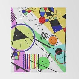 Retro Crazy - Abstract, random, crazy, geometric, colourful artwork Throw Blanket