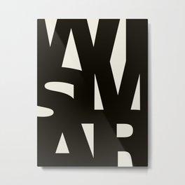 Wismar Typografie Metal Print