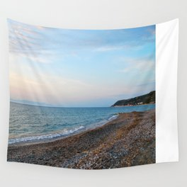 Greek Beach Wall Tapestry