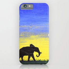 elephant wall canvas art  good luck animal african art landscape painting canvas wall nursery iPhone Case