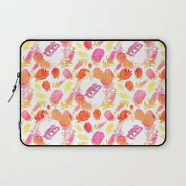 Beautiful Australiana Floral Pattern - Native Australian Flowers and Koalas Laptop Sleeve