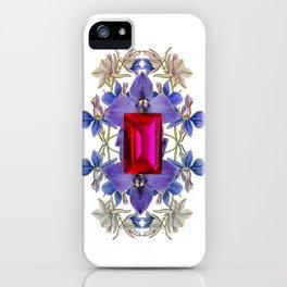 Birth Stone & Flower/JULY  iPhone Case