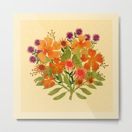 Orange & Purple Bouquet Metal Print
