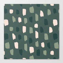 Paintbrush Green Rose Canvas Print