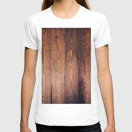 Rustic Wooden Plank Texture T-shirt
