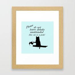 The Cat is a Jerk Framed Art Print