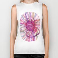 forever young Biker Tanks featuring FOREVER YOUNG by flaviasorr