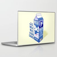 anchorman Laptop & iPad Skins featuring Milk was a Bad Choice ~ Brick Wanted (Anchorman) by Chubbybuddhist