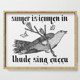 Lhude Sing Cuccu Serving Tray