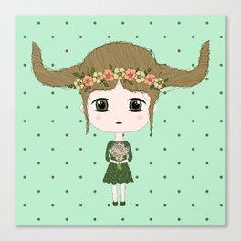 Taurus Girl Canvas Print