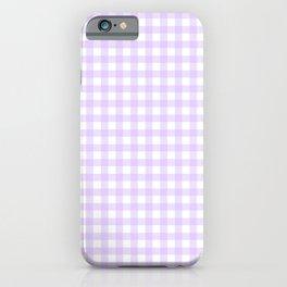 Lavender Gingham iPhone Case