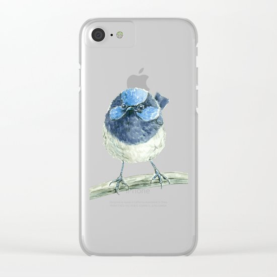 Fairy wren bird Clear iPhone Case