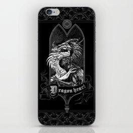 Dragon Heart, Black Gothic edition iPhone Skin