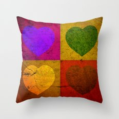FOUR HEARTS FOR VALENTINE'S DAY Throw Pillow