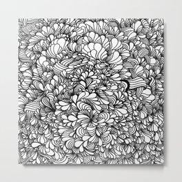 Zenflo White Metal Print