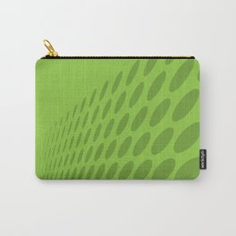 GREEN DOTS ON A GREEN BACKGROUND Abstract Art Carry-All Pouch