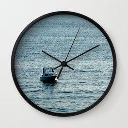 Small Boat (1) Wall Clock