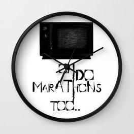 I Do Marathons Too! Wall Clock