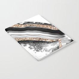 Agate Gold Glitter Glam #1 #gem #decor #art #society6 Notebook