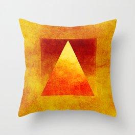 Triangle Composition VI Throw Pillow