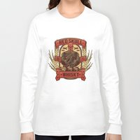 whisky Long Sleeve T-shirts featuring Red Whisky by Corey Courts