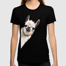 Sneaky Llama White T-shirt