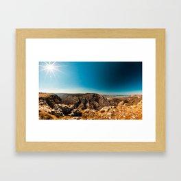 Sunny day in Val Rosandra Framed Art Print