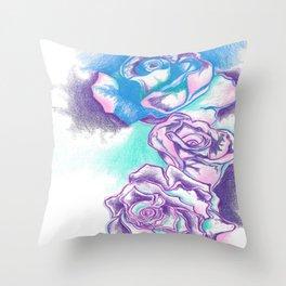 Contouring Roses Throw Pillow