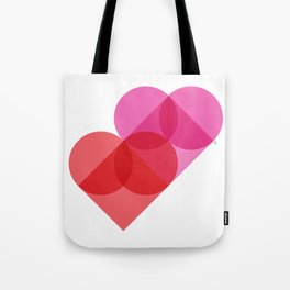 Geometric Love Tote Bag