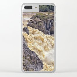 Powerful water going over the falls Clear iPhone Case
