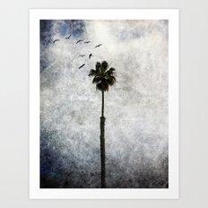 Palm Tree Birds Art Print