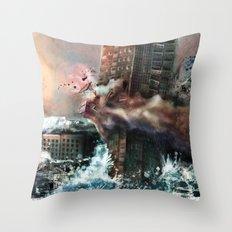 Wrecking Ball Listener Panorama Throw Pillow