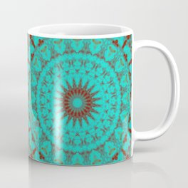 Mandala Fractal in Oxidized Copper 2 Coffee Mug