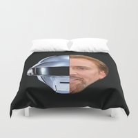 nicolas cage Duvet Covers featuring Daft Cage by Jared Cady