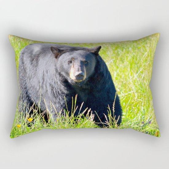 Alaskan Black Bear II Rectangular Pillow