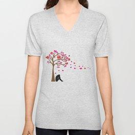 woman under the tree Unisex V-Neck