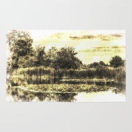 Lily Pond Vintage Rug