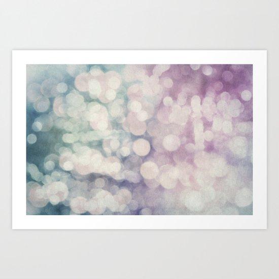 Tie-Dye Bokeh Art Print